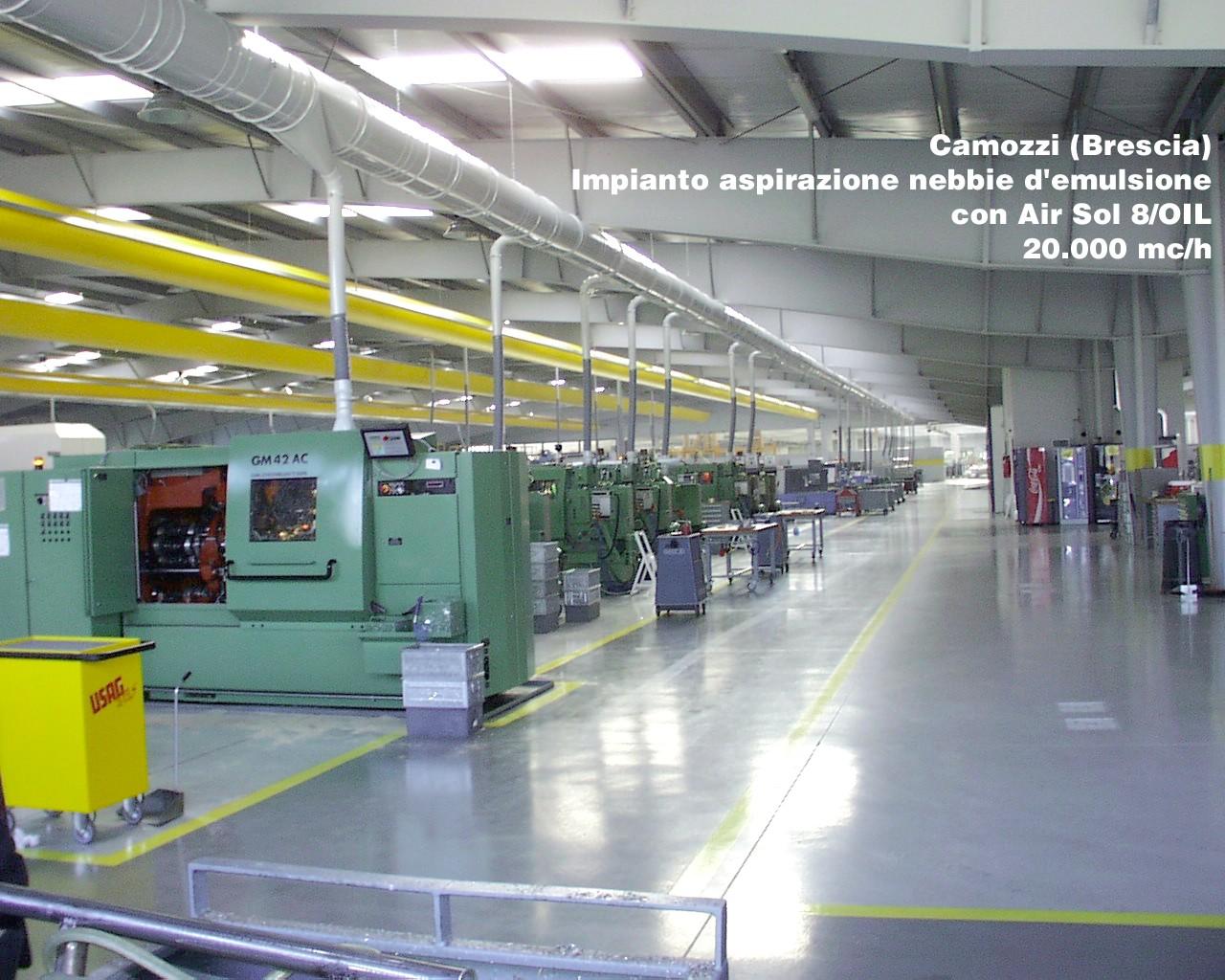 Impianti di aspirazione: l'importanza del filtraggio dell'aria negli ambienti industriali